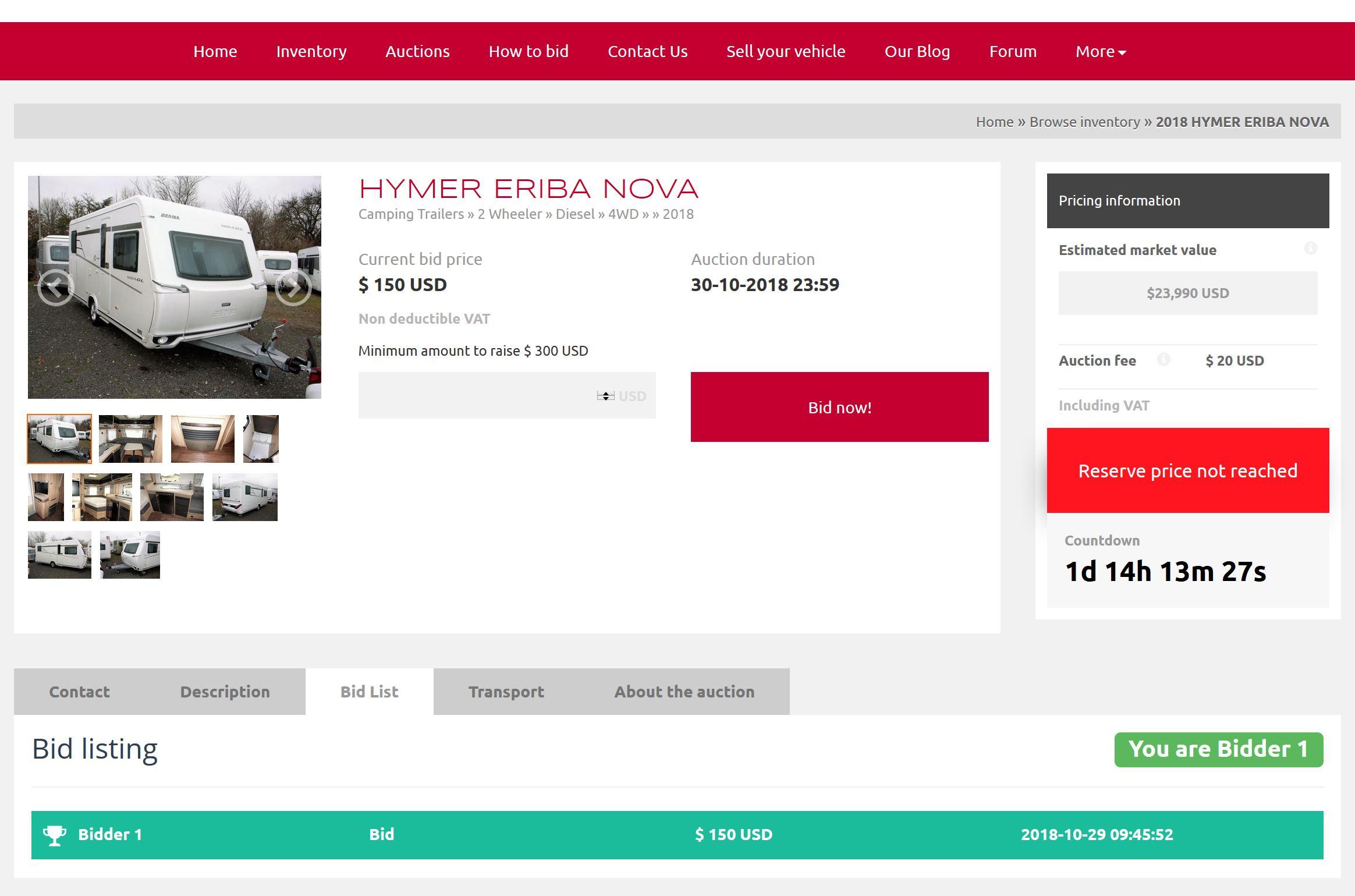 PraktikBid Auction System.
